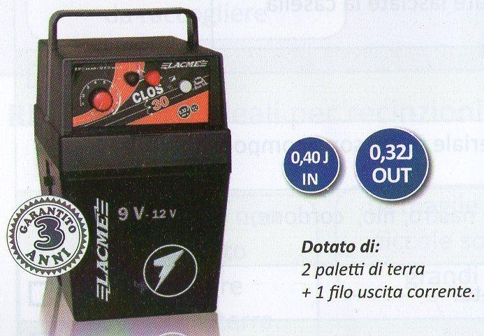 Elettrificatore clos 30 toscanzoo sp for Elettrificatore lacme